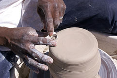 Hands Shaping Pottery Royalty Free Stock Photo