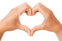 Hands show heart Stock Photography