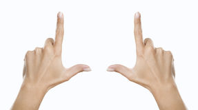 Hands showing frame Royalty Free Stock Photos