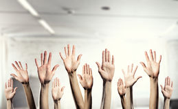 Hands showing gestures Royalty Free Stock Images