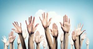 Hands showing gestures Stock Photos