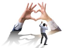 The hands showing heart gesture in love concept. Hands showing heart gesture in love concept royalty free stock photos