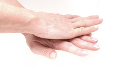 Hands showing Heart Massage Royalty Free Stock Image