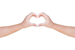 Hands showing  heart shape gesture with clipping path Stock Photo