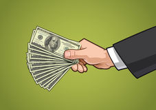 Hands Showing Money 3 Royalty Free Stock Photos