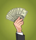 Hands Showing Money 1 Royalty Free Stock Photo