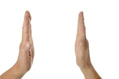 Hands showing something Stock Image