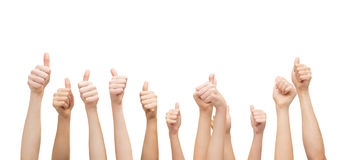 Hands showing thumbs up Royalty Free Stock Images