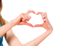 Hands shows heart Royalty Free Stock Image