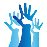 Hands sign Royalty Free Stock Image
