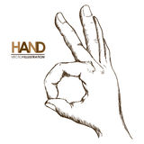 Hands signals Royalty Free Stock Images