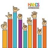 Hands signals Stock Photo