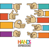 Hands signals Stock Image