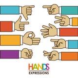 Hands signals Stock Image