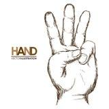 Hands signals. Design, illustration eps10 graphic stock illustration
