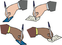Hands Signing Receipts Royalty Free Stock Photography