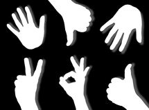 Hands silhouettes Stock Photography