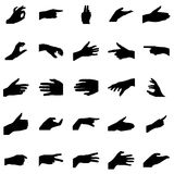 Hands silhouettes set Stock Image