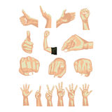 Hands simbols Royalty Free Stock Image