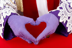 Hands of Sinterklaas Stock Photography