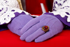 Hands of Sinterklaas Royalty Free Stock Photography