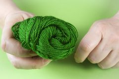 Hands with a skein of thread Royalty Free Stock Image