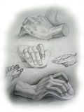 Hands sketch Royalty Free Stock Photography