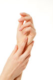 Hands skin care female Royalty Free Stock Photos
