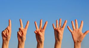 Hands on sky Royalty Free Stock Photography