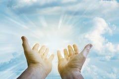 hands sky Στοκ Εικόνες