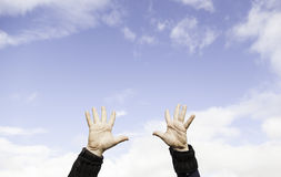 Hands in the sky Royalty Free Stock Image