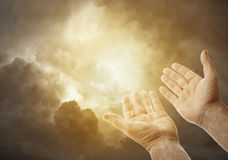 Hands in sky Royalty Free Stock Photography