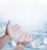 Hands in sky Royalty Free Stock Images