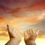 Hands in sky Royalty Free Stock Photos