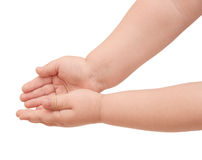 Hands of small child Stock Photos