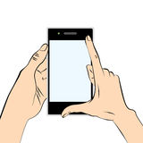 Hands and smart phone Royalty Free Stock Photography