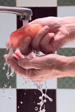 Hands with soap. Royalty Free Stock Image