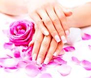 Hands Spa Όμορφα θηλυκά χέρια Στοκ Εικόνες
