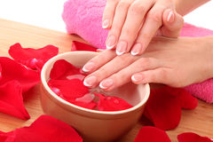 Hands and spa Royalty Free Stock Images