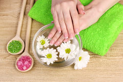 Hands and spa Royalty Free Stock Photo