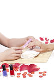 Hands Spa. Manicure concept Royalty Free Stock Photography