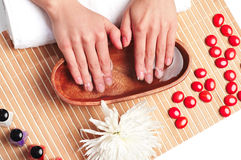 Hands Spa. Manicure concept Stock Image