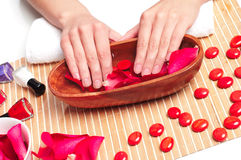Hands Spa. Manicure concept Stock Photography