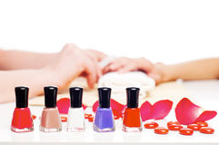 Hands Spa. Manicure concept Royalty Free Stock Images