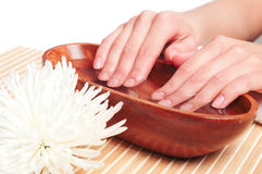 Hands Spa. Manicure concept Royalty Free Stock Photo