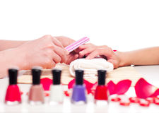 Hands Spa. Manicure concept Royalty Free Stock Image