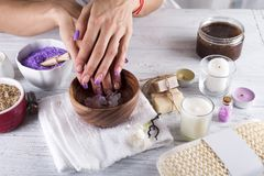 Hands Spa.Manicure concept Stock Images