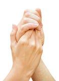 hands spiry Royaltyfria Foton