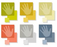 Hands on Square Tiles Stock Photography