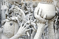 Hands statue from hell Royalty Free Stock Image
